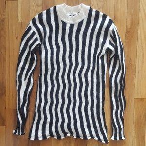Helmut Lang Black & White Striped Sweater